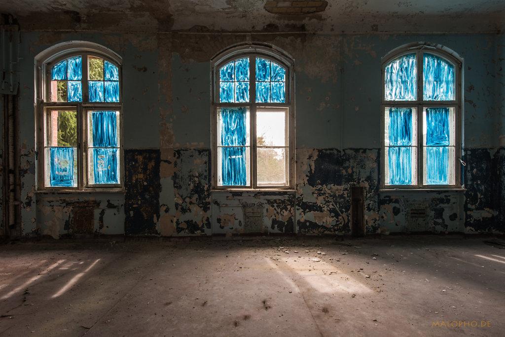 Fenster Blau