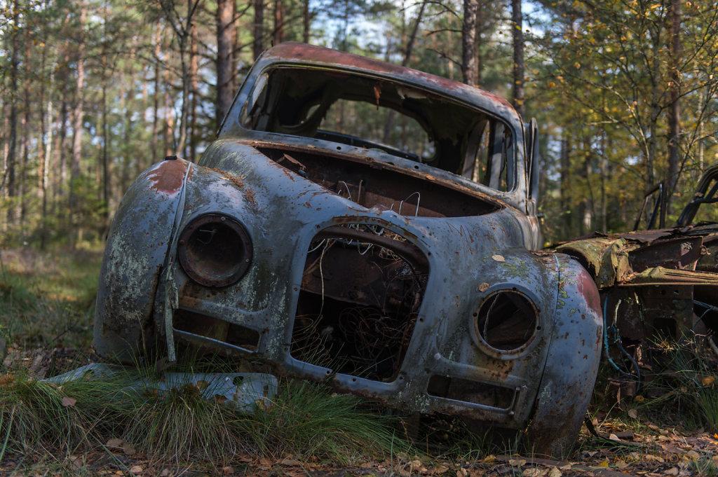 Blauer Volvo